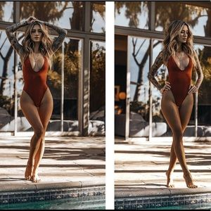 NWOT Gooseberry So Chic One piece swimsuit - Rum
